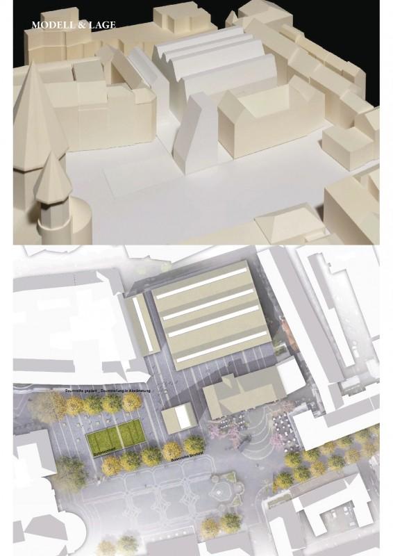 Modellage des Gutenberg-Museums (Stand Dezember 2017) ©DFZ Architekten GmbH