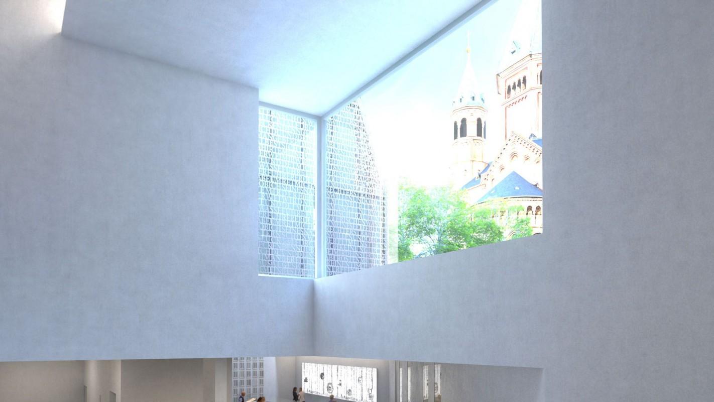 Treppenabgang / Zugang zum Bibelturm II (Stand Januar 2018) ©DFZ Architekten GmbH