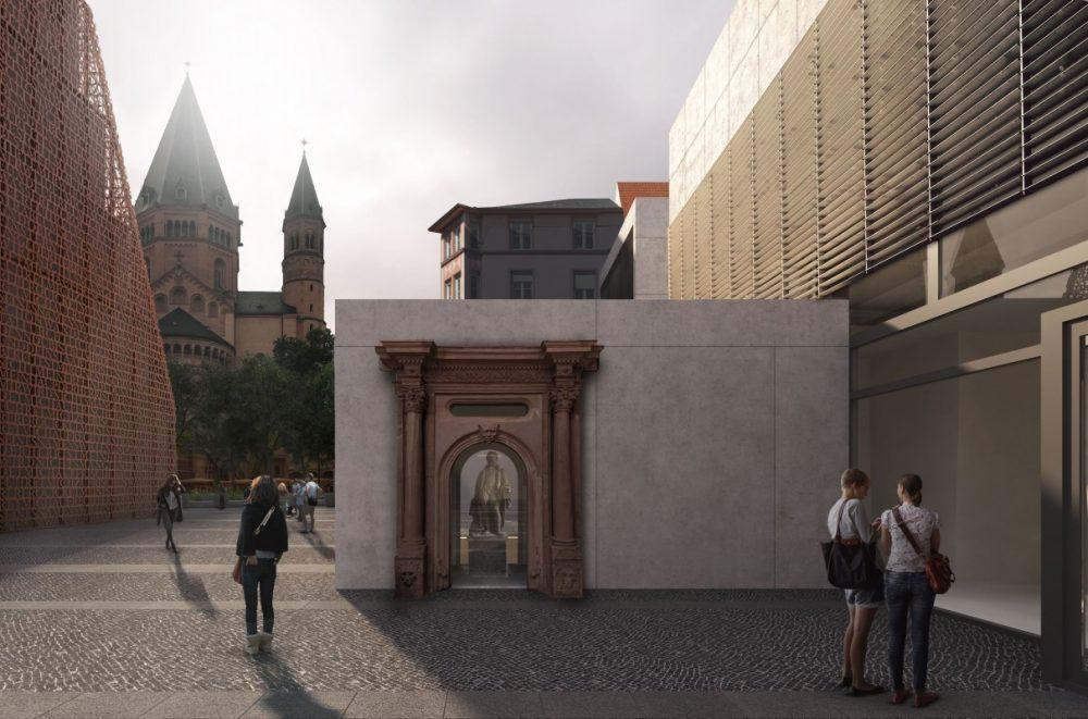 Das neue Gutenberg-Museum: Eingangsbereich (Stand Januar 2018) ©DFZ Architekten GmbH