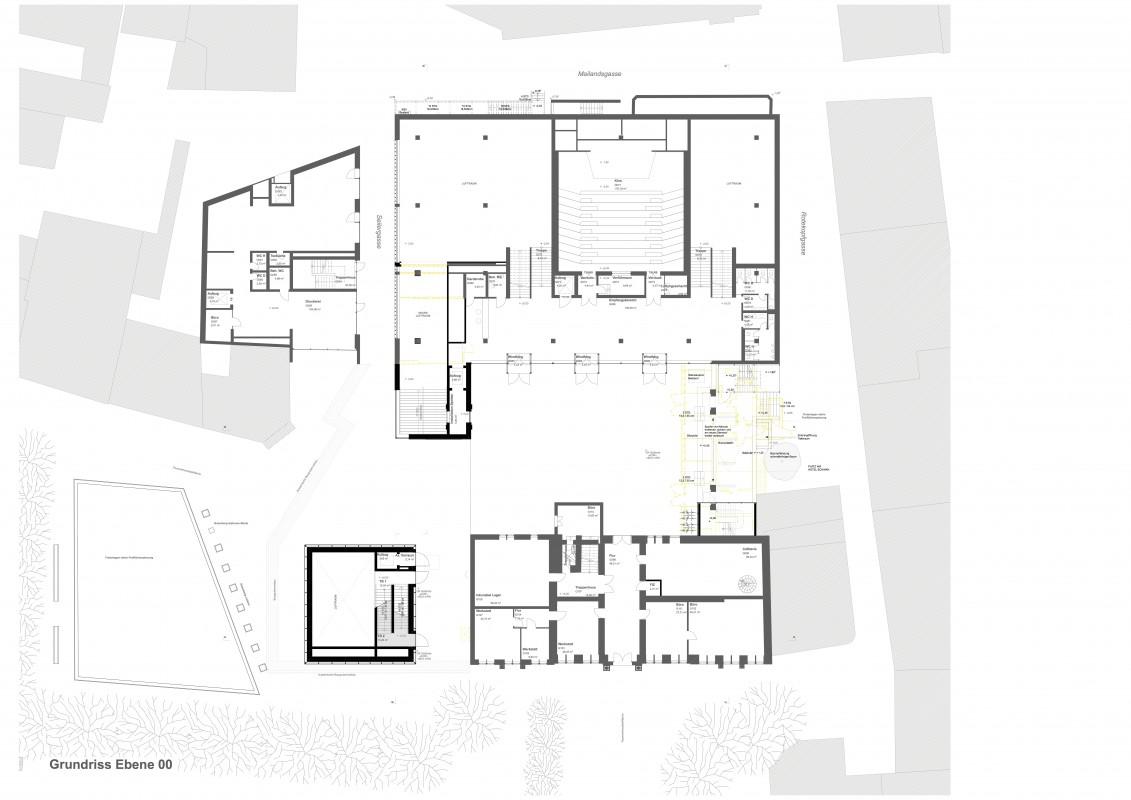 Grundriss Erdgeschoss Gutenberg-Museum