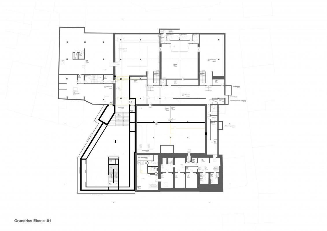 Grundriss Untergeschoss des Gutenberg-Museums