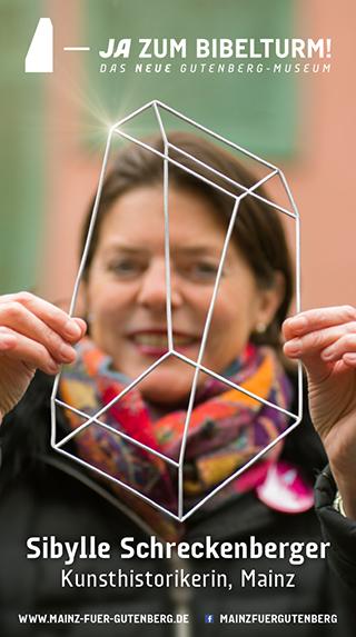Sibylle Schreckenberger (Kunsthistorikerin) sagt JA zum Bibelturm!