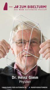 Dr. Heinz Gimm (Physiker) sagt JA zum Bibelturm!