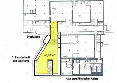Plan Gutenberg-Museum Untergeschoss
