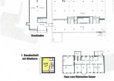 Plan Gutenberg-Museum Obergeschoss