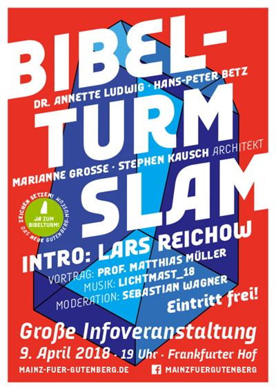 9. April: Bibelturm-Slam im Frankfurter Hof